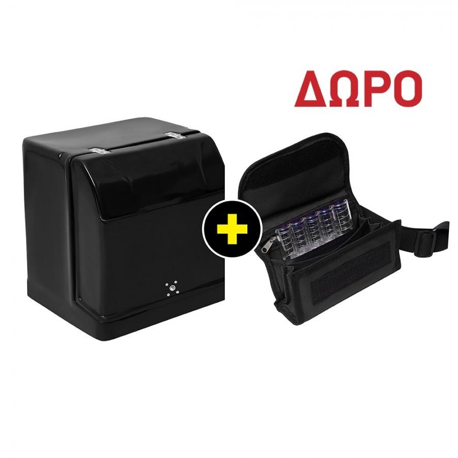 COMBO 3 Κουτί Delivery - Μεταφοράς Μεσαίο (Μ52xΠ44,5xΥ51) Με Μόνωση και Ράφι ΔΩΡΟ ΤΣΑΝΤΑΚΙ ΜΕΣΗΣ Κουτιά Delivery