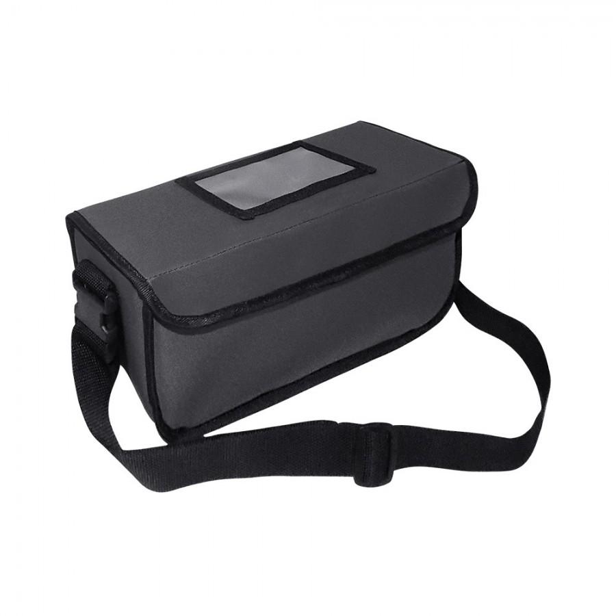 Ισοθερμική Τσάντα Delivery - Θερμόσακος Μεταφοράς Φαγητού XS (9lt) Γκρι  Ισοθερμικές Τσάντες Delivery