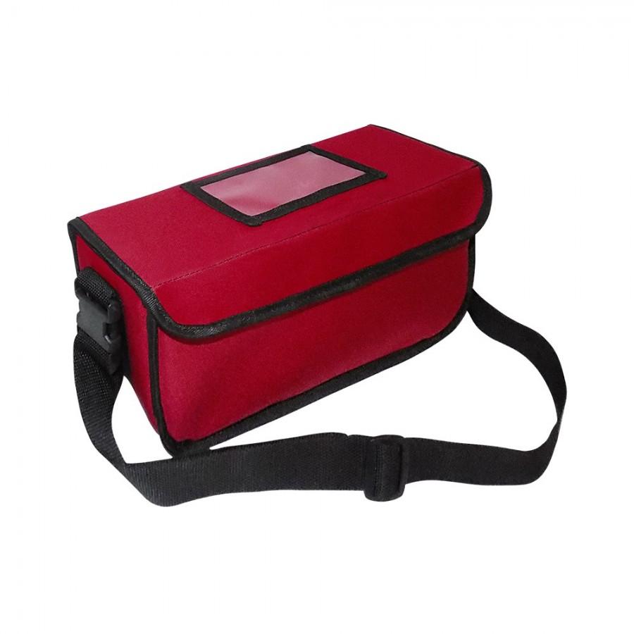 Ισοθερμική Τσάντα Delivery - Θερμόσακος Μεταφοράς Καφέ 3 Θέσεων (9lt) Κόκκινος Ισοθερμικές Τσάντες Delivery